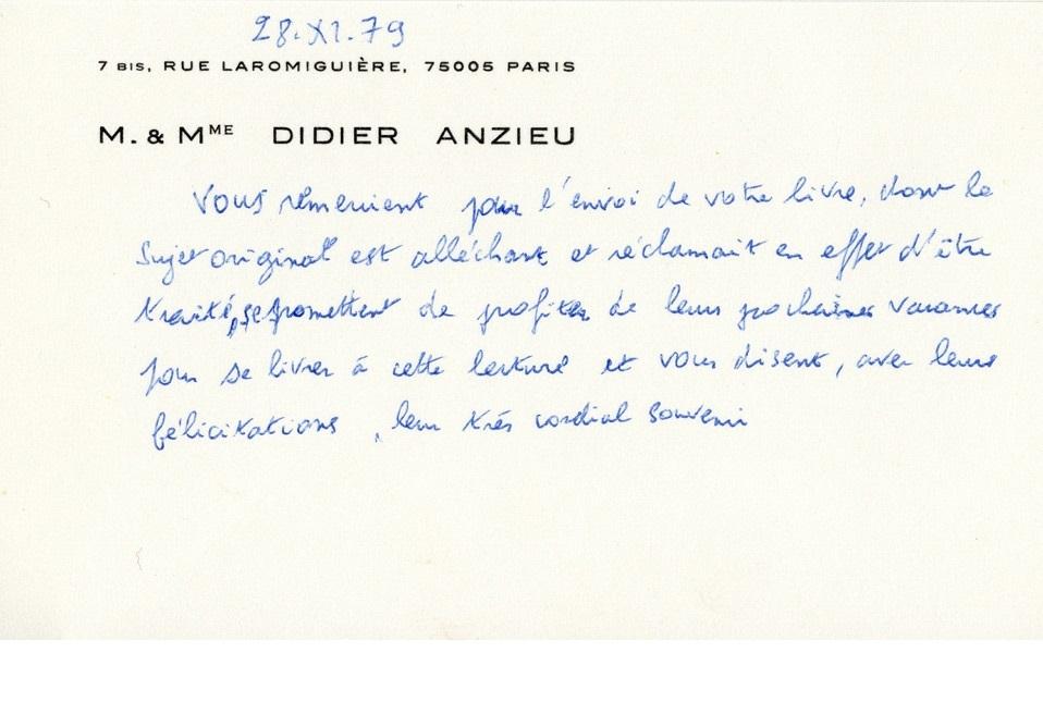Monsieur Anzieu Didier