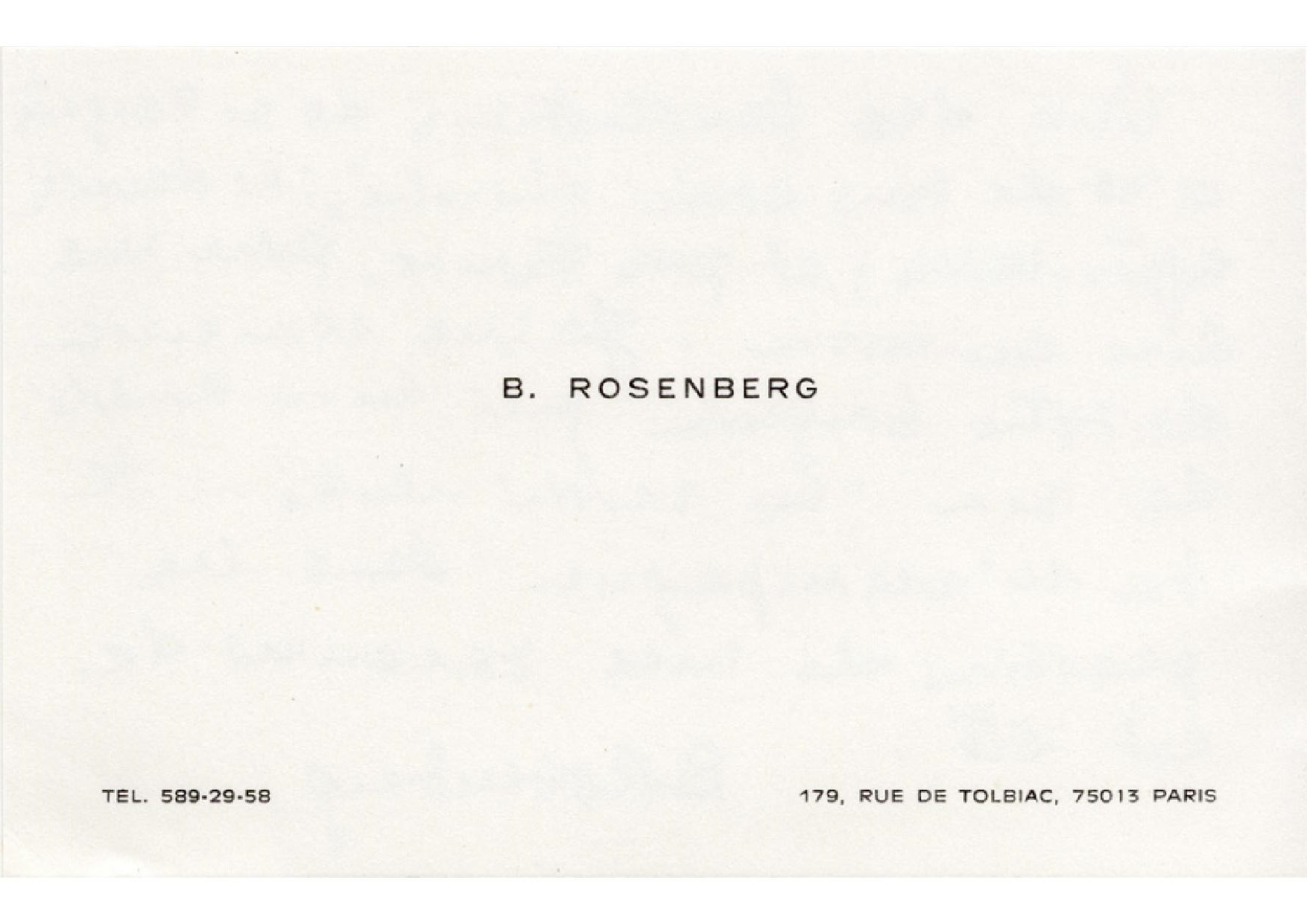 Rosenberg Benno