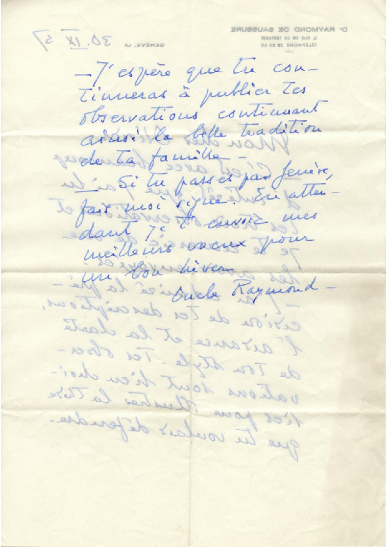 De Saussure Raymond