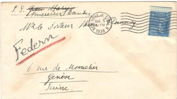 Lettre de Paul Federn à Henri Flournoy