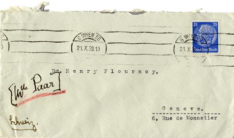 Lettre de Hilde Paar à Henri Flournoy