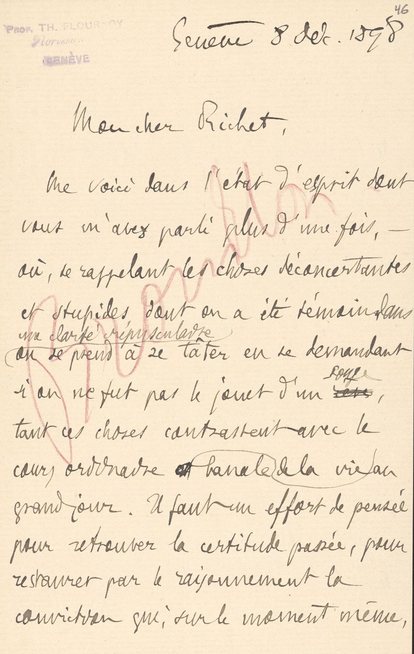 De Théodore Flournoy à Charles Richet
