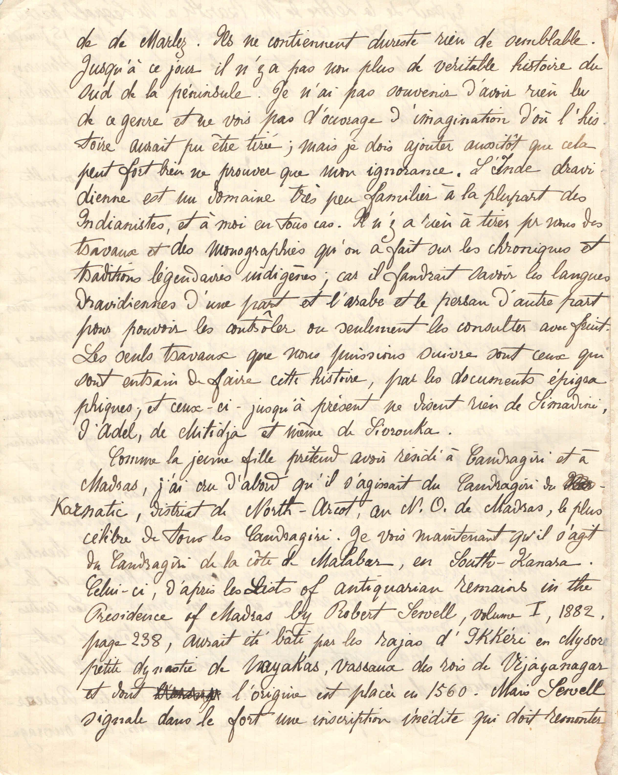 M.Barth à Léopold Favre