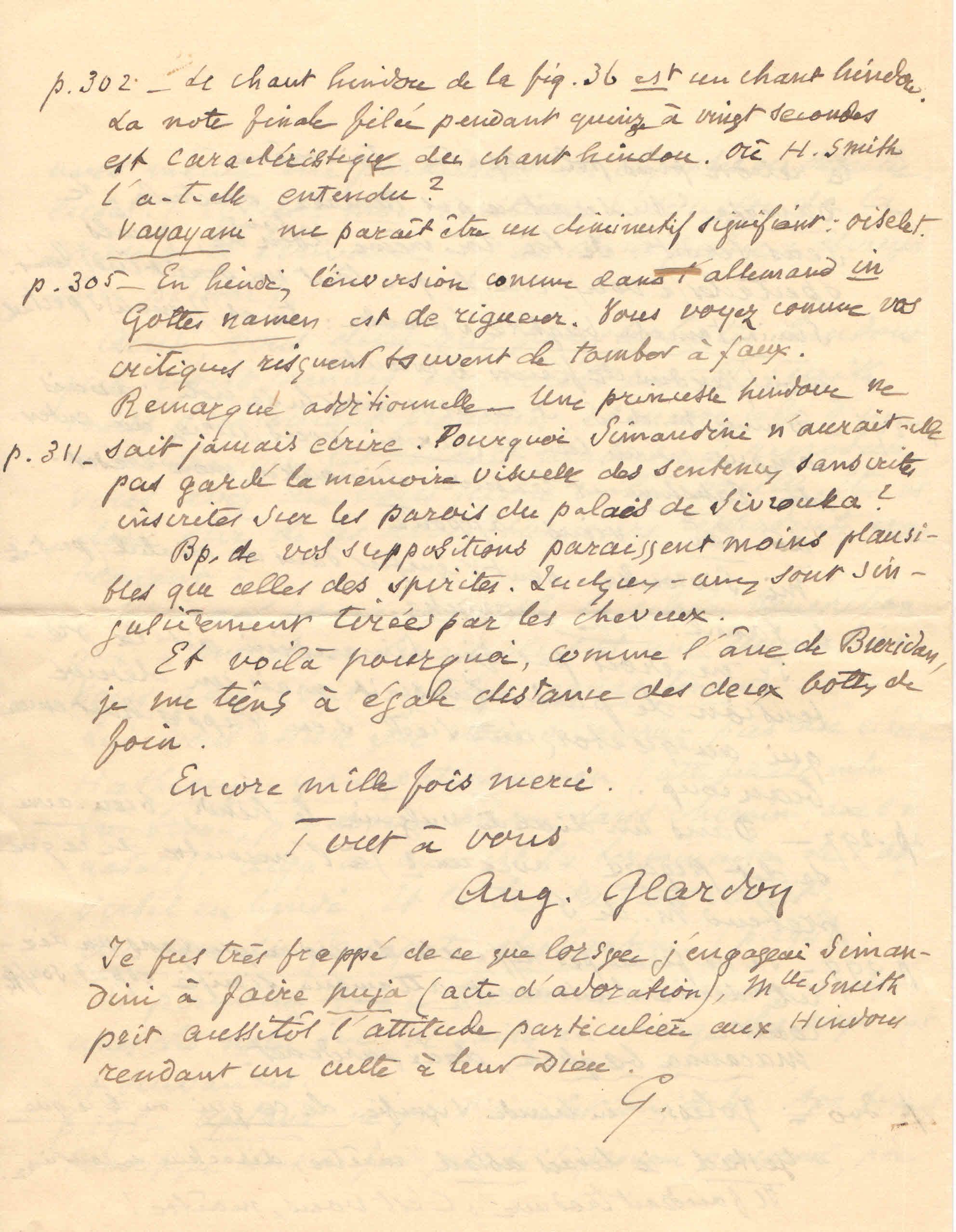 Lettre de M.Auguste Glardon