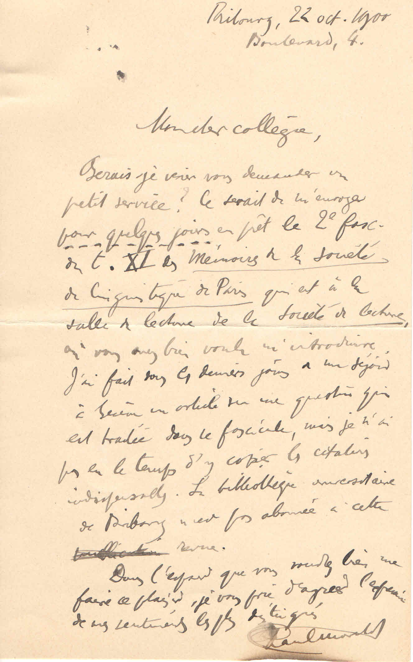 Lettrede Paul Marchot