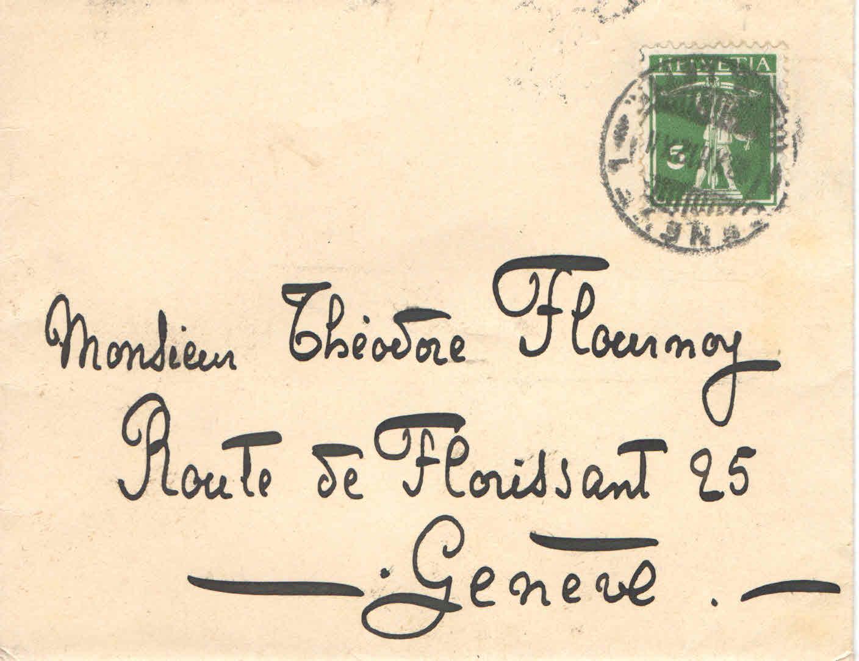 Elise à Théodore, le 12 mai 19013