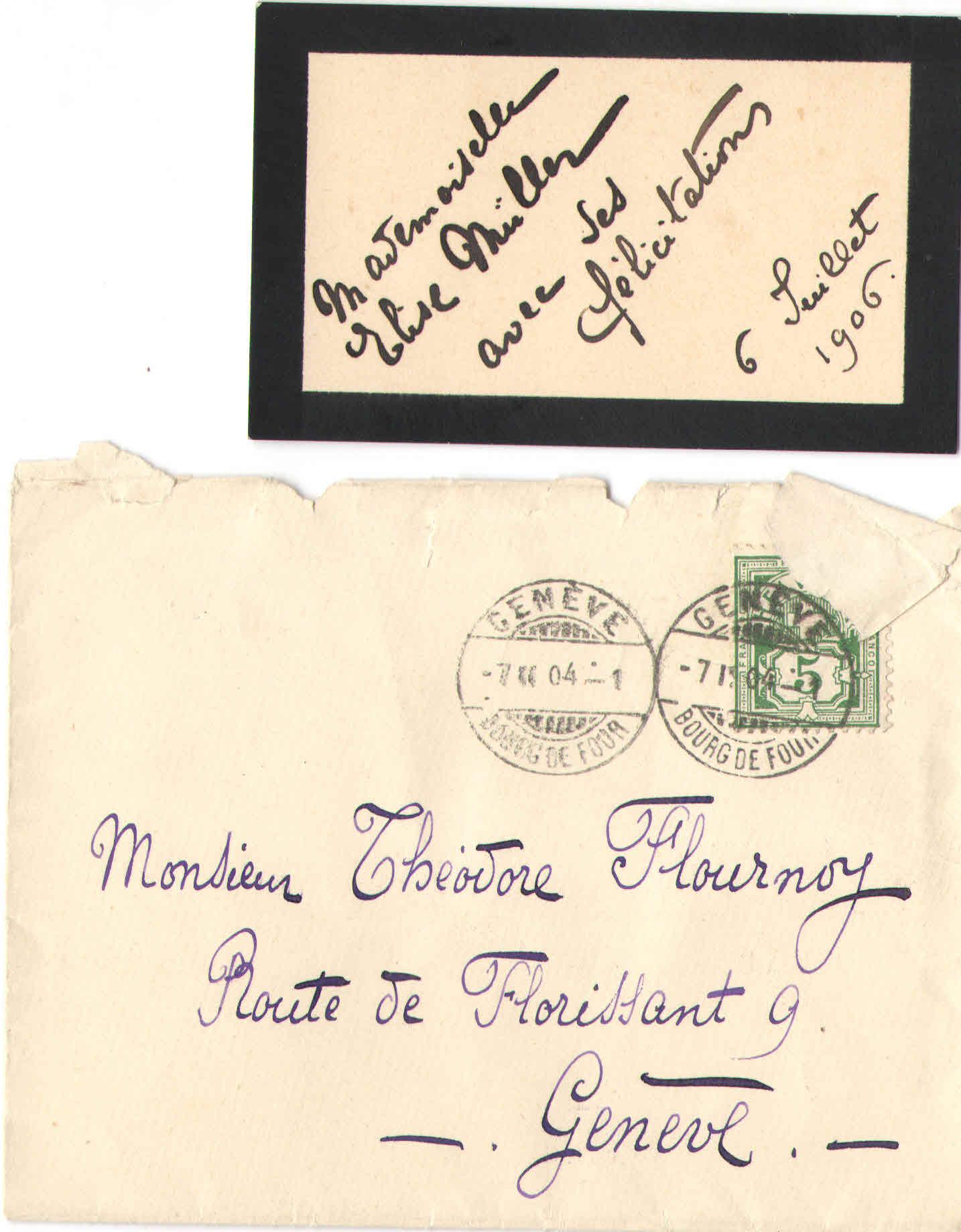 Elise à Théodore, le 6 juillet 1906