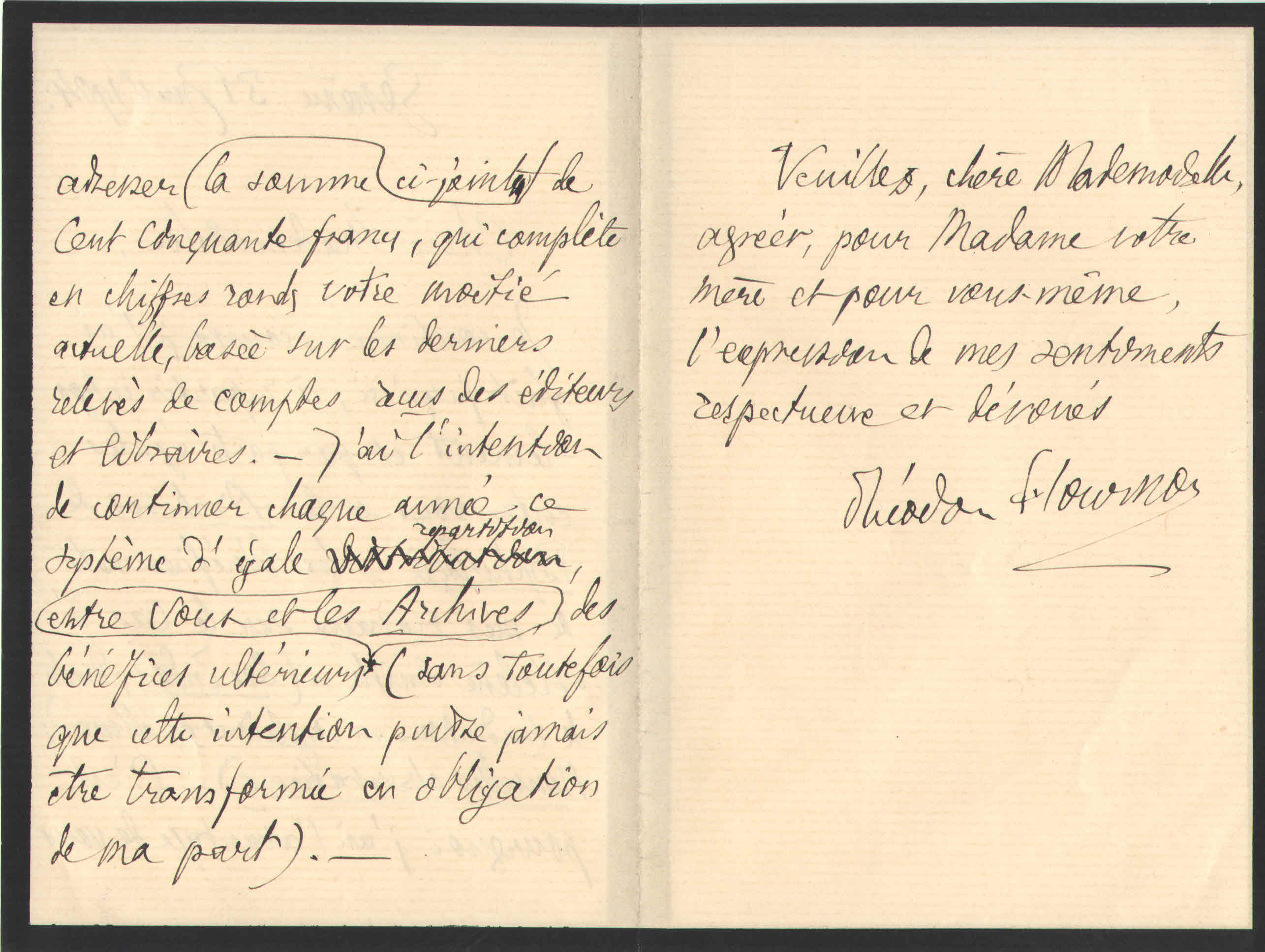 Théodore à Elise, le 31 janvier 1904