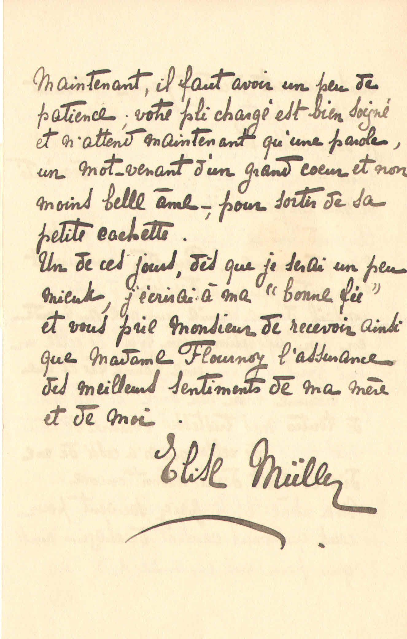 Elise à Théodore, le 29 avril 1902