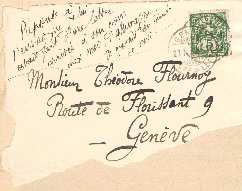 Elise à Théodore, le 27 janvier 1902