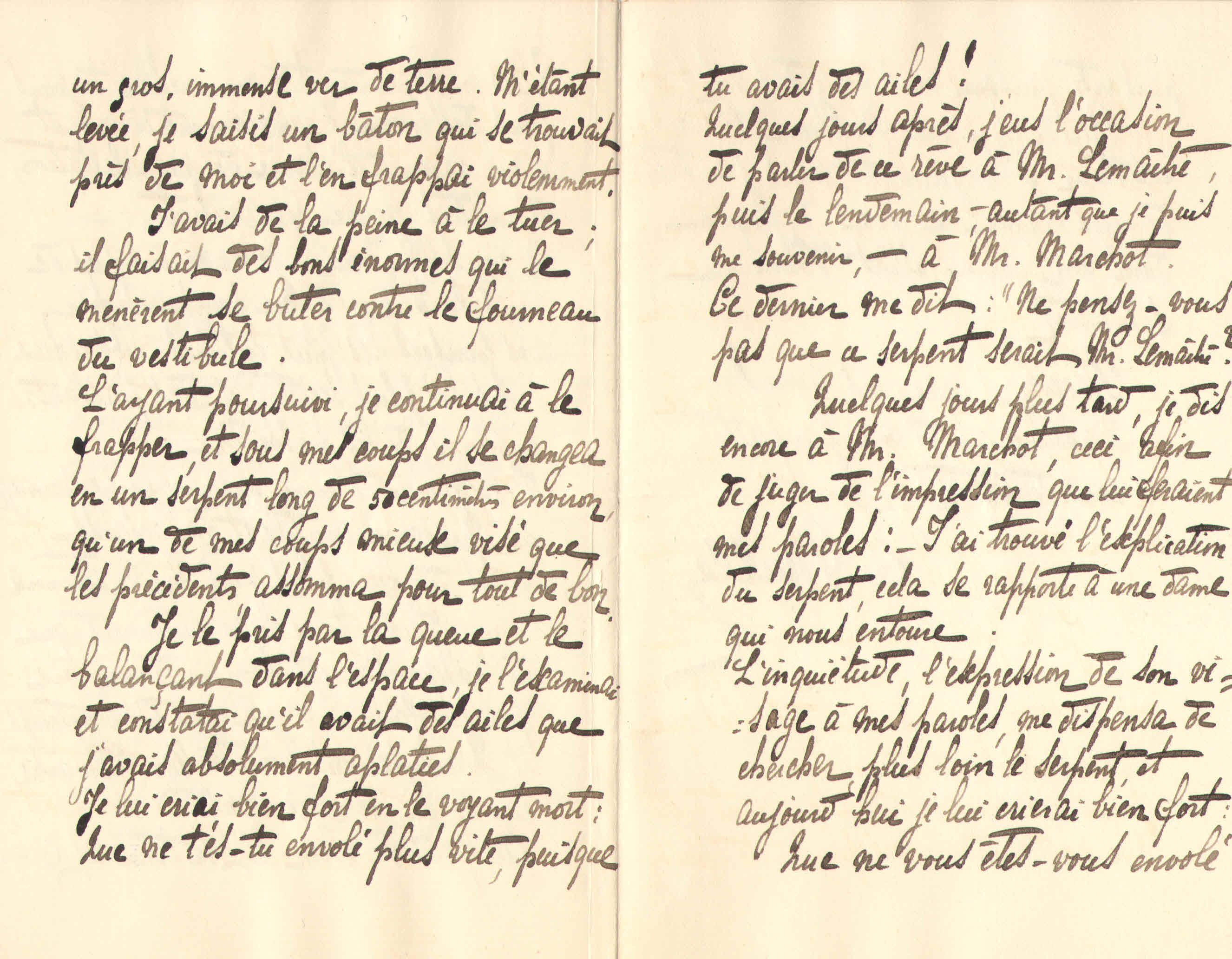 Elise à Théodore, le 15 janvier 1902