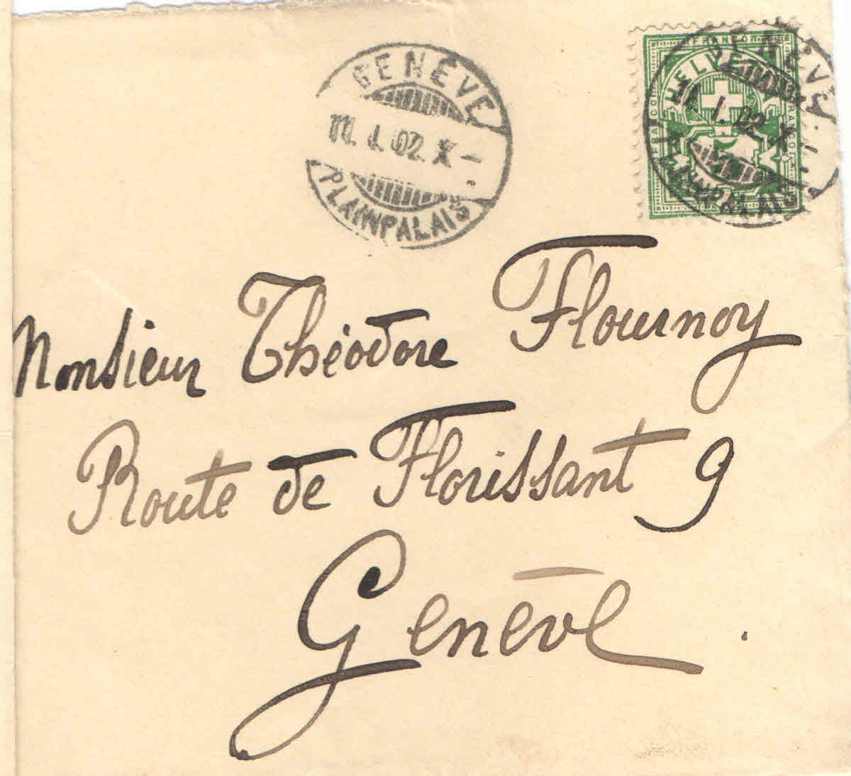 Elise à Théodore, le 10 janvier 1902