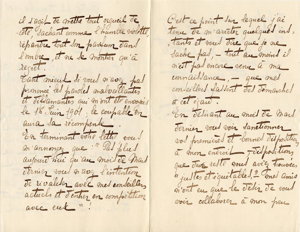 Elise à Théodore, le 22 décembre 1901
