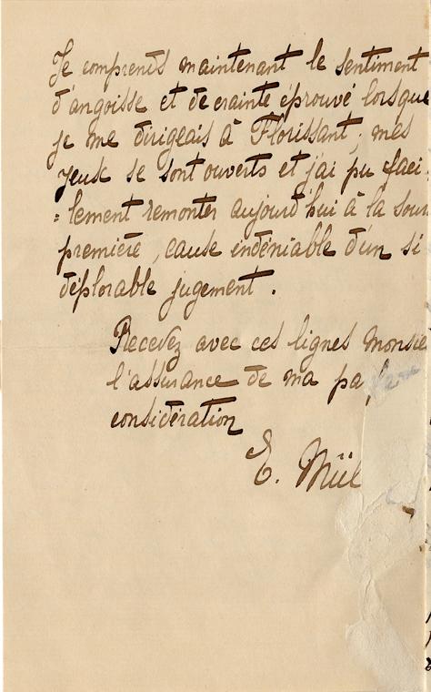 Elise à Théodore, le 7 décembre 1901