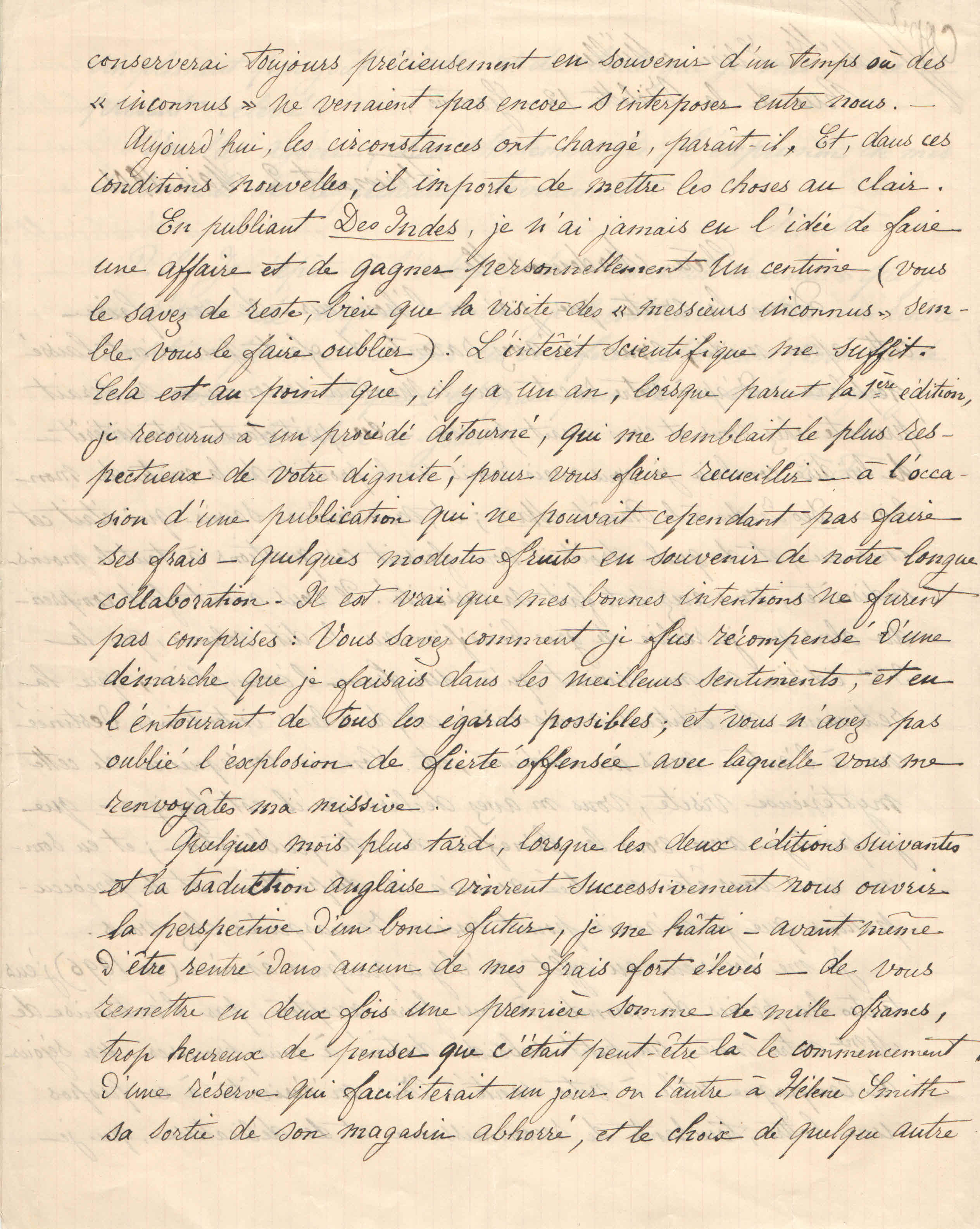 Théodore à Elise, le 2 mars 1901
