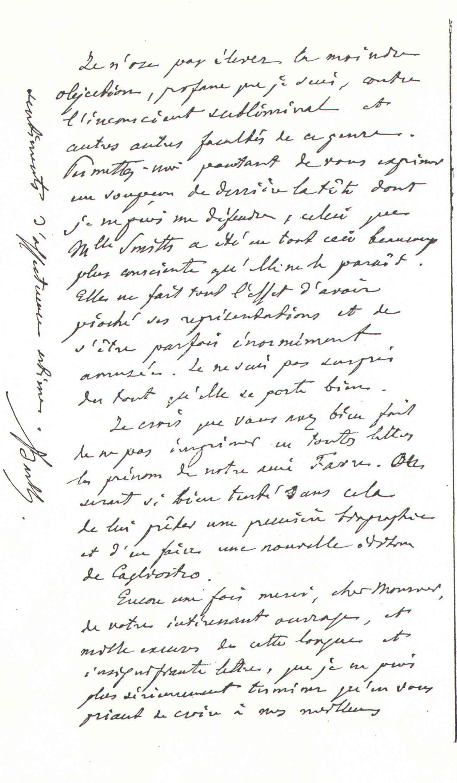 M.Barth à Théodore Flournoy