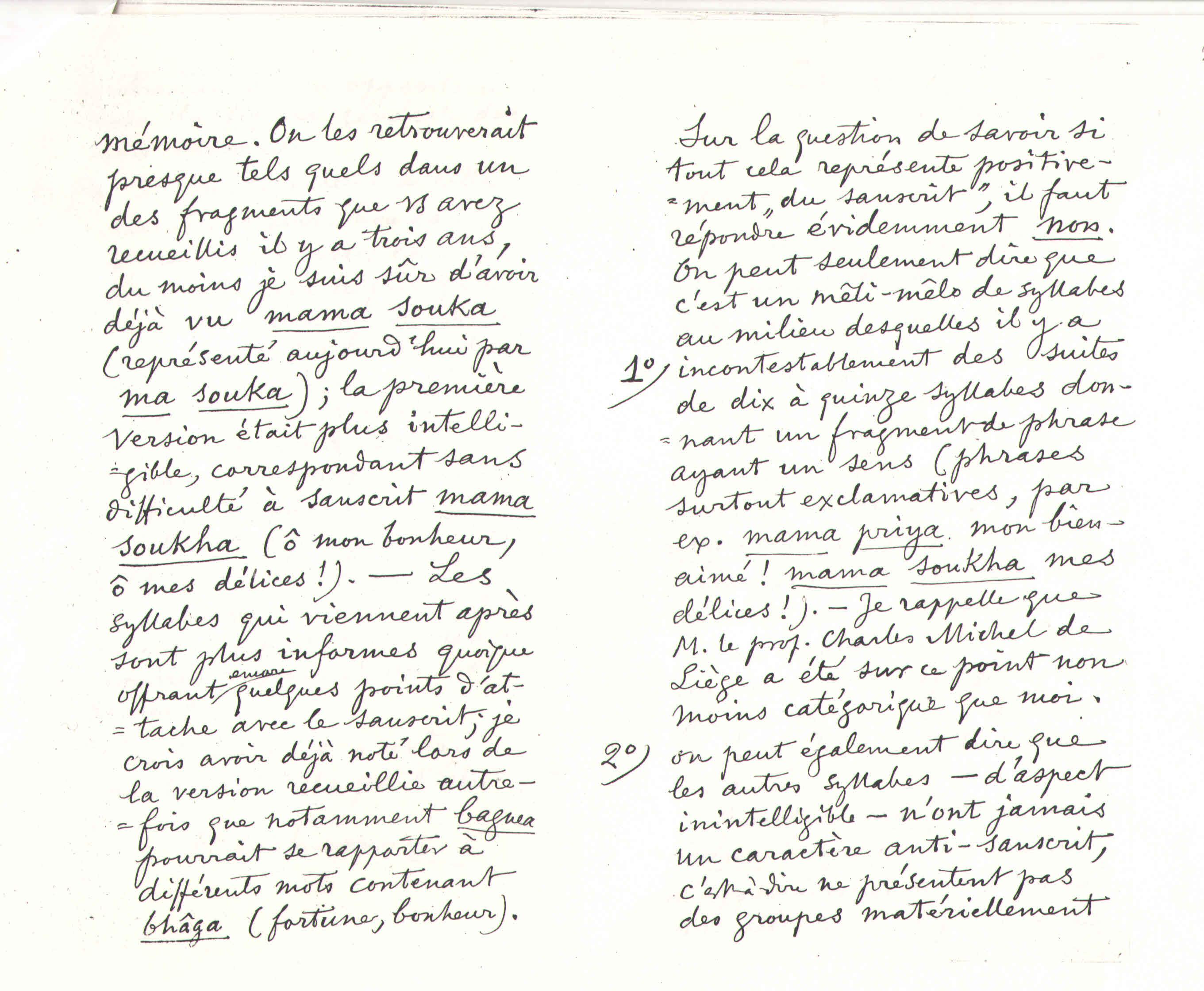 F. de Saussure à Théodore Flournoy